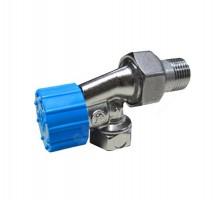 Клапан терморегулирующий Giacomini R415H 1/2 Вн/нар, д/радиат, терм.голов, американка, углов.осевой