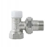 Вентиль запорно-регулирующий Itap 396, 1/2 Вн/нар, д/стальных труб, американка, угловой