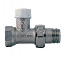 Вентиль запорно-регулирующий Itap 296, 1/2 Вн/Н, д/стальных труб, американка, прямой