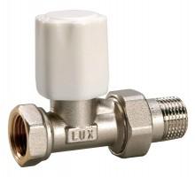 Вентиль регулирующий LUXOR TEKNA RD 01, 3/4 Вн/Н, д/стальных труб, американка, прямой