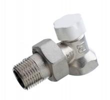 Вентиль запорно-регулирующий LUXOR EASY DS 122, 1/2 Вн/Н, д/стальных труб, американка, угловой