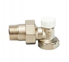 Вентиль запорно-регулирующий LUXOR EASY DS 122, 3/4 Вн/Н, д/стальных труб, американка, угловой