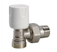 Вентиль регулирующий LUXOR EASY RS 112, 1/2 Нар, д/пластиковых труб, американка, угловой