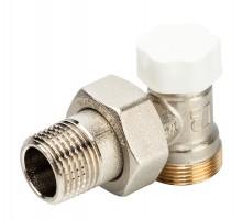Вентиль запорно-регулирующий LUXOR EASY DS 132, 1/2 Нар, д/пластиковых труб, американка, угловой