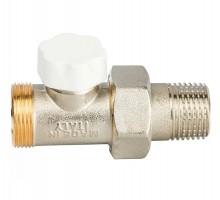 Вентиль запорно-регулирующий LUXOR EASY DD 131, 1/2 Нар, д/пластиковых труб, американка, прямой