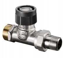 Вентиль терморегулирующий OVENTROP A, 1/2, 3/4 Нар, двухтруб.система, американка, прямой