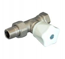 Вентиль ручной OVENTROP HR, 1/2 Вн/Н, двухтруб.система, американка, маховик, прямой