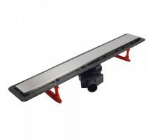Лоток душевой Pestan Confluo Frameless Line L=450 сталь/стекло с решёткой 13701229 под плитку