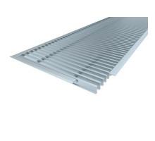 Решетка с рамкой Vitron ( шаг 13мм, ширина 200мм, длина 2000мм, профиль анодированный алюминий, цвет серебро)