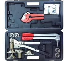 Комплект инструмента для труб Pink+Stabil (Ящик, Экспандер, Тиски 16-32, ножницы,насадки 16-32) Tim