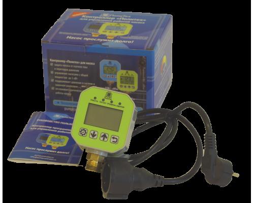 Контроллер управления насосом ПолиТех с резьбой 1/2, макс давление 2МПа (Расширенный) с питающим кабелем