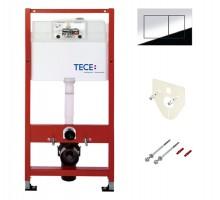 Инсталляция TECE TECEbase, для подвесного унитаза, кнопка смыва TECEnow, 9400012