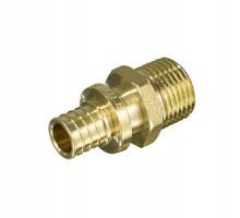 Муфта аксиальная TIM D=16, 3/4 Нар, прямая, под зажимную гильзу, для PEX труб 2.2 мм, H-S1603M