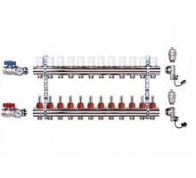 Коллекторная группа Luxor CD 473M 12 отводов, с расходомерами