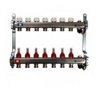 Коллекторная группа STOUT на 7 отводов с расходомерами, с клапаном вып. воздуха и сливом