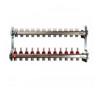 Коллекторная группа STOUT на 12 отводов с расходомерами, с клапаном вып. воздуха и сливом