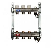 Коллекторная группа STOUT SMS0922000003 на 3 отвода, нержавеющая сталь, без расходомеров
