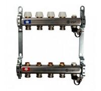 Коллекторная группа STOUT SMS0922000004 на 4 отвода, нержавеющая сталь, без расходомеров