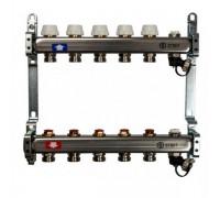 Коллекторная группа STOUT SMS0922000005 на 5 отводов, нержавеющая сталь, без расходомеров