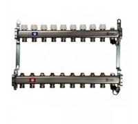 Коллекторная группа STOUT SMS0922000009 на 9 отводов, нержавеющая сталь, без расходомеров