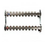 Коллекторная группа STOUT SMS0922000010 на 10 отводов, нержавеющая сталь, без расходомеров