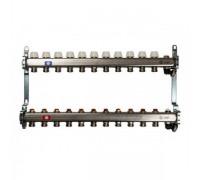 Коллекторная группа STOUT SMS0922000011 на 11 отводов, нержавеющая сталь, без расходомеров