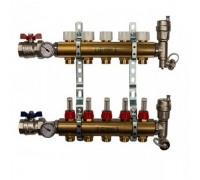 Коллекторы STOUT SMB0473000005 на 5 отводов, латунь, с расходомерами