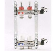 Коллекторная группа из нержавеющей стали UNI-FITT с вентилями и расходомерами 1x3/4 ЕК 2 отвода