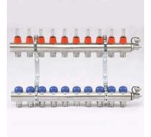 Коллекторная группа с термостатическими вентилями и расходомерами UNI-FITT 1x3/4 ЕК 10 отводов