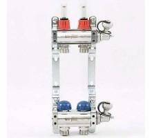 Коллекторная группа с термостатическими вентилями и расходомерами UNI-FITT 1x3/4 ЕК 2 отвода
