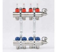Коллекторная группа с термостатическими вентилями и расходомерами UNI-FITT 1x3/4 ЕК 4 отвода