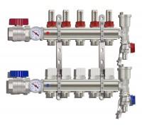 Коллекторная группа TIM KA005, 5 отводов с расходомером (ПОЛНЫЙ комплект)