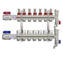 Коллекторная группа TIM KA007, 7 отводов с расходомером (ПОЛНЫЙ комплект)