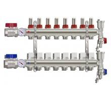 Коллекторная группа TIM KA008, 8 отводов с расходомером (ПОЛНЫЙ комплект)
