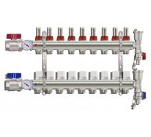 Коллекторная группа TIM KA009, 9 отводов с расходомером (ПОЛНЫЙ комплект)