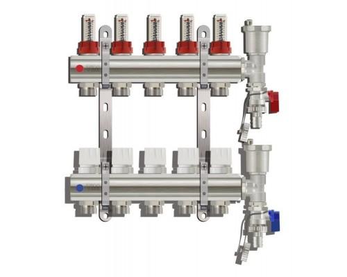 Коллекторная группа TIM KC005, 5 отводов с расходомером
