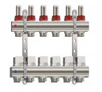 Коллекторная группа TIM KD006, 6 отводов с расходомером