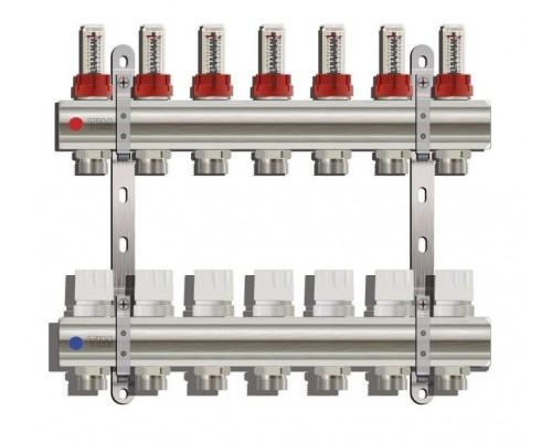 Коллекторная группа TIM KD007, 7 отводов с расходомером