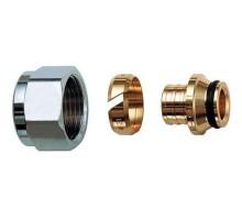 Фитинг обжим (цанговый) евроконус с накидной гайкой Tim MFPN-E16(2.0) 1/2x16мм (2.0мм)