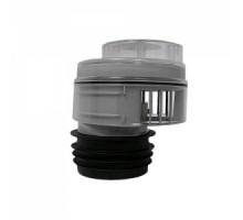 Вентиляционный клапан (аэратор) для канализации со смещением, прокладкой и прозрачной крышкой 4