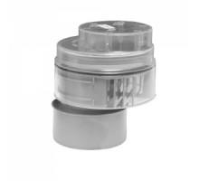 Вентиляционный клапан (аэратор) для канализации со смещением и прозрачной крышкой Ø110мм McALPINE