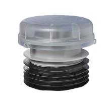 Вентиляционный клапан (аэратор) для канализации с подпружиненной мембраной, манжетой и прозрачной крышкой Ø110